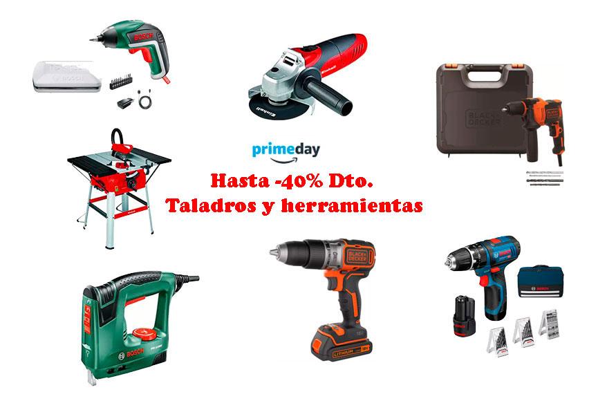 Primeday. Hasta -40% Dto. Taladros y herramientas