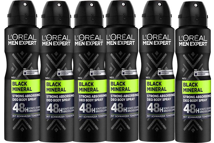 L'Oréal Men Expert black mineral 48h barato