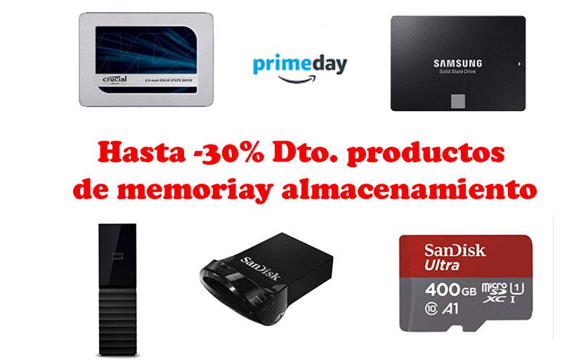hasta -30% Dto. productos de memoria y almacenamiento