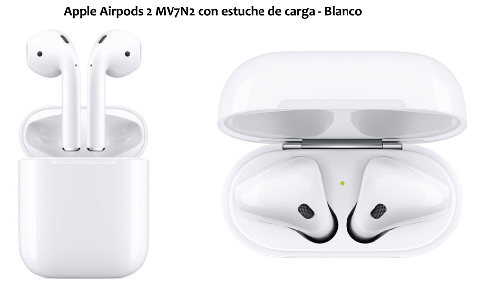 auriculares apple airpods v2 baratos chollos amazon blog de ofertas