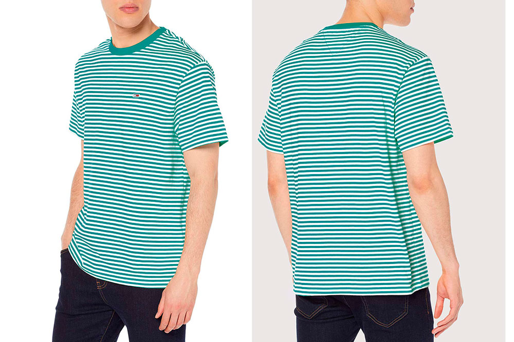 camiseta Tommy Jeans All-Over Stripe T