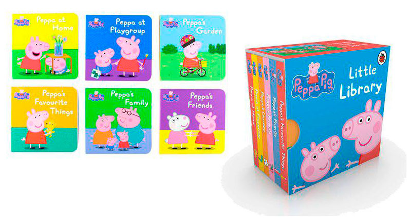 peppa pig little libray barata