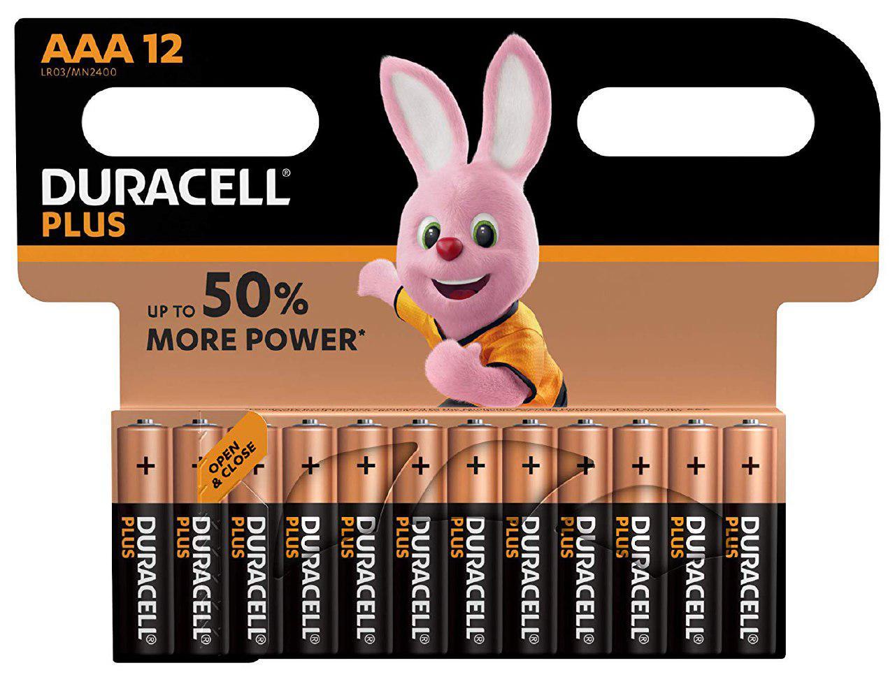 12 pilas Duracell plus AA baratas