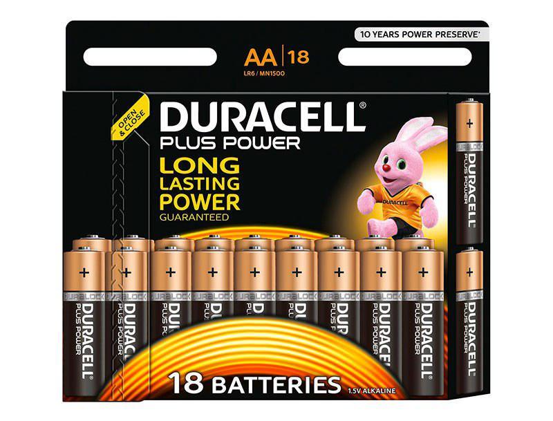 18 pilas Duracell Pluss AA y AAA baratas