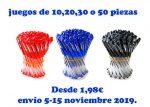 ¡Chollo! juego 10,20,30 o 50 bolígrafos baratos desde 1,9€