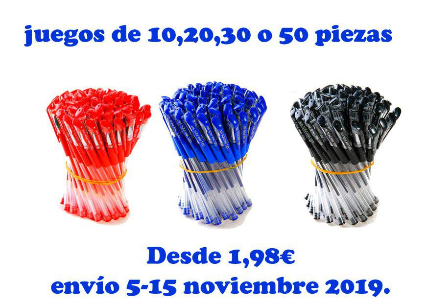 juego 10,20,30 o 50 bolígrafos baratos