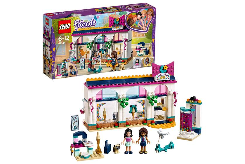 Lego Friends tienda de accesorios Andrea Heartlake barata