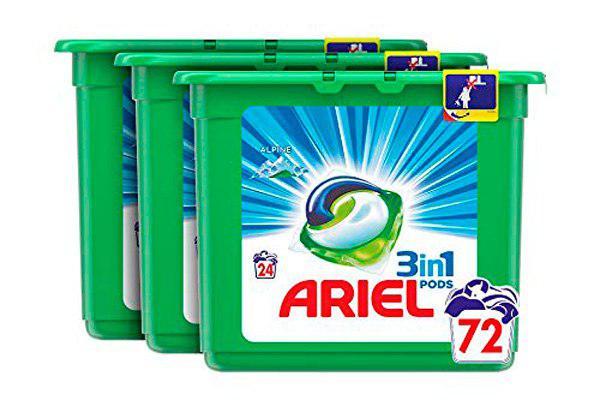 Ariel 3en1 pods 72 lavados barato