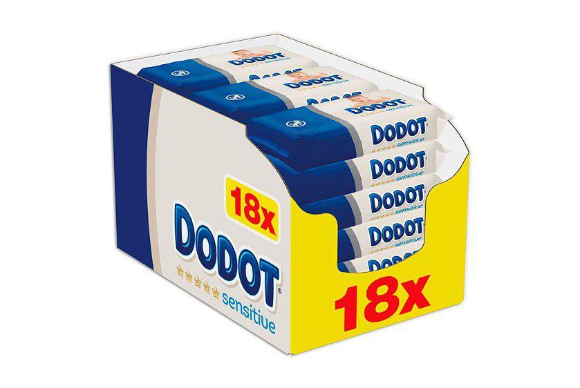 18 paquetes toallitas Dodot Sensitive baratas