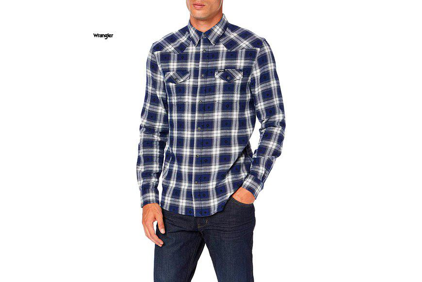 camisa Wrangler LS Western barata