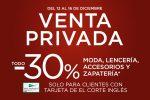 Venta Privada El Corte Inglés en MODA -30% Descuento ¡Ya activa!