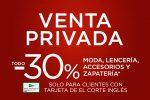 Venta Privada El Corte Inglés en MODA -30% Descuento ¡10 al 16 de Junio 2021!