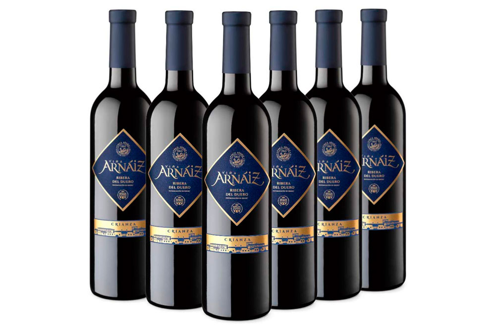 Pack 6 botellas Viña Arnáiz Crianza Vino Tinto D.O Ribera del Duero 39€