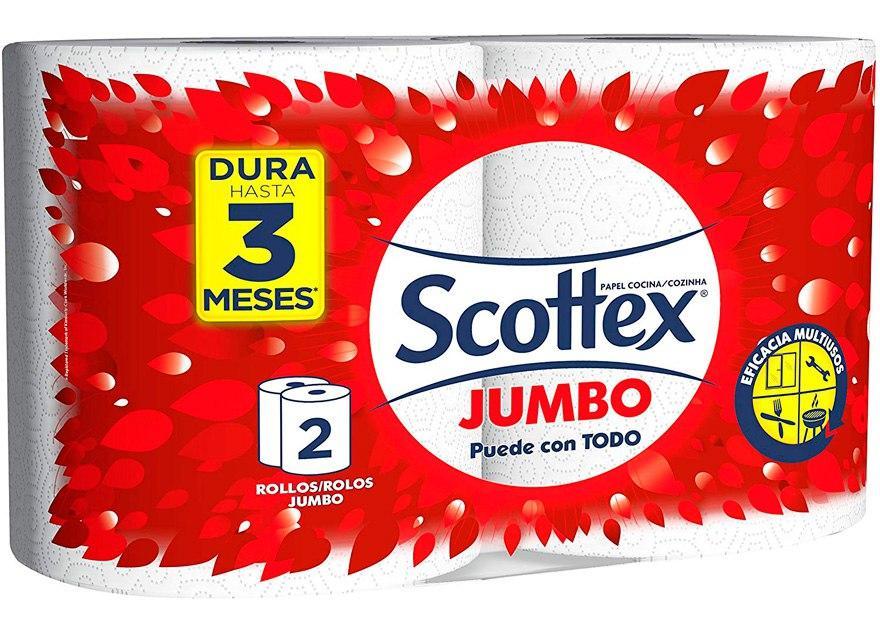 2 rollos Scottex Jumbo baratos