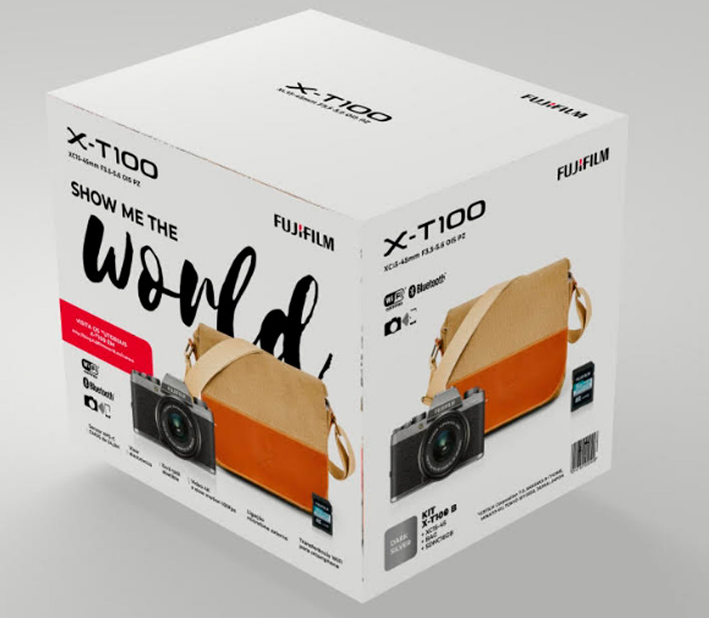 Cámara Evil Fujifilm X-T100 con Objetivo XC 15-45 MM + Funda SDHC16