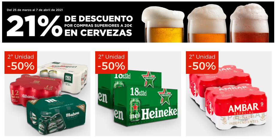 Chollazo cervezas El Corte Inglés 21% Descuento